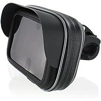 """Motorrad Fahrrad Bike Set Halterung Tasche mit Sonnendach 4,3"""" für Navi Geräte bix max. 133 x 84 mm"""