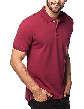 [Patrocinado]Lapasa Polo para Hombre de Manga Corta. 100% Puro Algodón (Color Gris: 90% Algodón, 10% Viscosa)