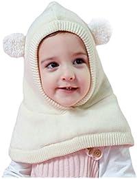 Arcweg Chapeaux Hiver pour Garçons Filles Thermique en Tricoté Coupe-Vent  Cagoule Enfants Bonnet avec 3507ecbf109