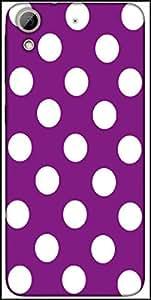 Snoogg Purple Polka Dot Designer Protective Back Case Cover For HTC Desire 626