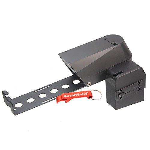 1500rd Box Magazin für P90 Serie Softair AEG - AirsoftGoGo Schlüsselanhänger Inklusive