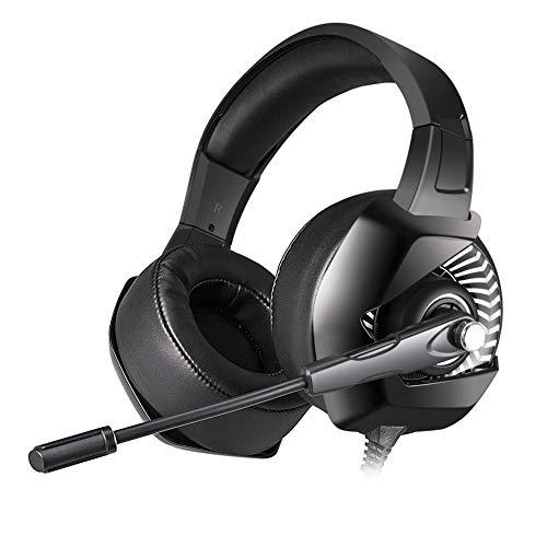 Stereo Gaming Headset Für PS4, PC, Xbox One Controller, Geräuschkulisse Über Ohrhörer Mit MIC, LED-Licht, Bass-Surround, Soft-Memory-Ohrmuffs Für Laptop-Mac-Nintendo-Switch-Spiele,A