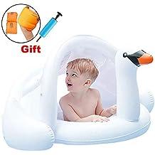 ONMET Flotador Niños Flotador Bebe con Parasol, Flotador Anillo Baby Float Flotadores para 3 Meses