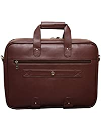 SS Leathers Dark Brown Pure Leather Laptop Bag For Men
