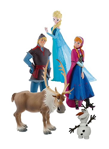 Bullyland - 12220- Coffret 5 figurines La Reine Des Neiges Disney