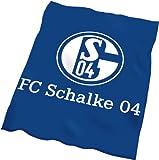 FC Schalke 04Velourdecke 'blau mit Logo' in 150 x 200 cm