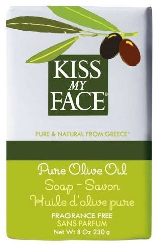 Kiss My Face Moisturizing Bar Soap for All Skin Types - Pure Olive Oil - 8 oz by Kiss My Face (Soap Bar Olive)