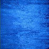 Kleid aus Pannesamt, Royal Blau–Meterware