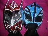 SOPHZZZZ TOY SHOP sin Cara Rosso e Rey Mysterio (Colore Will Change) Maschera Set Wrestling WWE Costume Tuta Zip 2013 Misterio Bambini