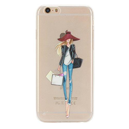 iPhone 6 Hülle Silikon, LuckyW TPU Handyhülle für Apple iPhone 6 6S(4.7 zoll) Soft Silikon Tasche Transparent Schale Clear Klar Hanytasche Durchsichtig Rückschale Ultra Slim Thin Dünne Schutzhülle Wei Mädchen 1