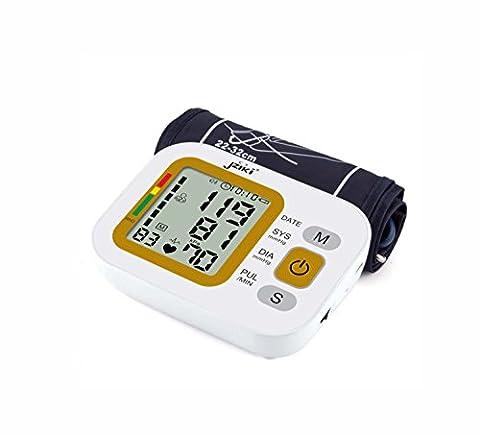KZJBMP Micro-ordinateur Le nouveau sphygmomanomètre électronique entièrement automatique rechargeable USB Mesure numérique Le bras supérieur La pression artérielle et le battement de coeur Une précision supérieure, un grand écran LCD Docteur reconnu