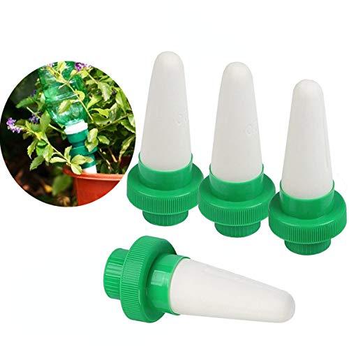 Kyerivs Keramik Automatische Pflanzen Bewässerung Bewässerungssystem Zimmerpflanzen Wasserspender Kegel Tropf für Garten,Zimmerpflanze,Blumen 4er Set