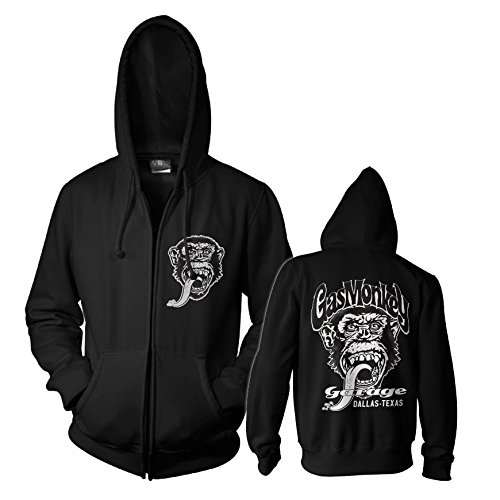 Officially Licensed Merchandise GMG - Dallas Texas Zipped Hoodie (Black), XX-Large