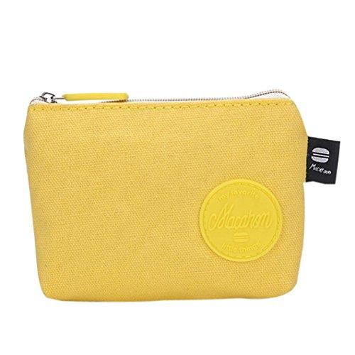 44056a7ea Cartera Mujer Pequeña Tela Monedero de Elegante y Moda Amarillo para Niña por  ESAILQ B