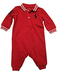babaf2ba3eba Ralph Lauren Baby Boys Polo Coveralls Big Pony One Piece