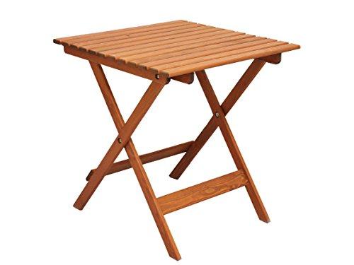 Ambientehome 90476 Gartentisch Bistrotisch Esstisch Klapptisch klappbar Holztisch Massivho