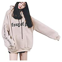 Sumeier Women's Classic Letters Printed Oversized Loose Hoodie Hooded Pullover Sweatshirt Tops with Pockets