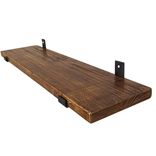 Soportes de estante de pared retro Estante de madera Organizador de almacenaje...