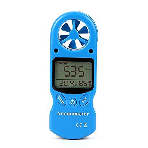 Profesional y multifuncional Mini anemómetro multiuso Anemómetro digital LCD TL-300 Medidor de humedad...