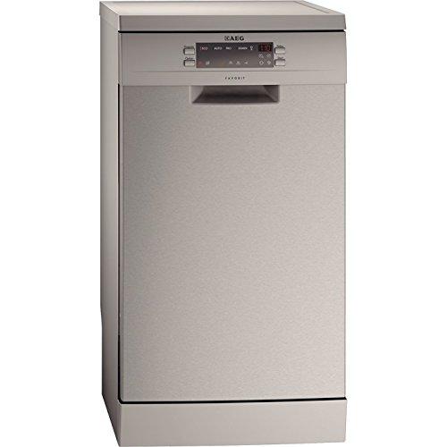 AEG F55412M0 Independiente 9cubiertos A+ lavavajilla - Lavavajillas (Independiente, Acero inoxidable, Compacto, Acero inoxidable, Tocar, LCD)