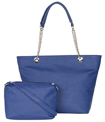 Adisa Women\'s Handbag With Sling Bag (Blue,Ad2012-Blu)