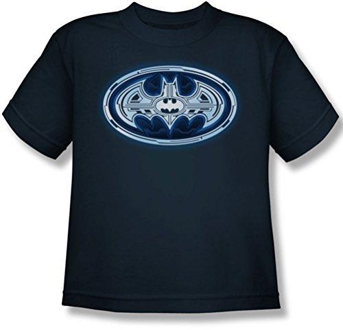 Batman - Cyber ??Bat Shield Jugend T-Shirt in Navy Navy