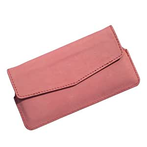 i-KitPit : PU Leather Pouch Case Cover For Lenovo P780 (LIGHT PINK)