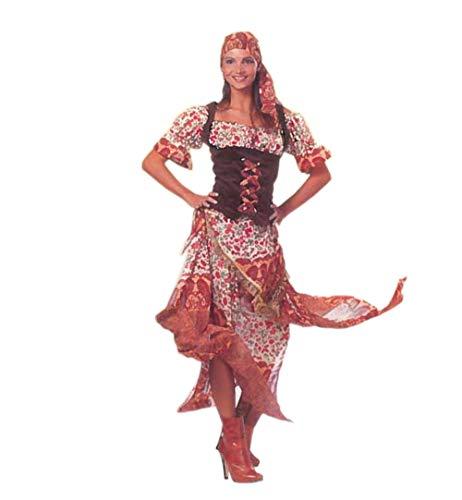 KarnevalsTeufel Damenkostüm Zigeunerin 2-TLG. Verkleidung für Erwachsene Sinti und Roma (42)