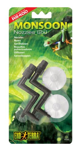 Exo Terra Hagen Nozzles Replacement for Monsoon RS400 High-Pressure Rainfall System 2pcs
