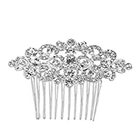 Almabner Bride Crystal Crown Headdress Shiny Rhinestone Hairpin Hair Combs Bridal Girl Headpiece Hairband Hairstyle Decoration