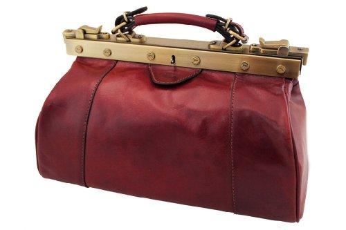 Diligenza, Katana Borsa in pelle di vacchetta, colletto 8250 K rosso