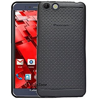 RSC Power+ 360* Protection Premium Dotted Designed Soft Rubberised Back Case Cover for Panasonic P55 Novo -Black