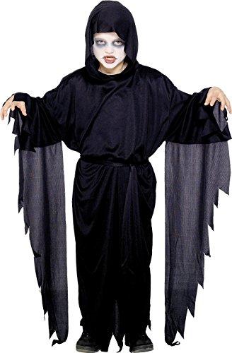 Halloween Kostüm Ideen Robe (Smiffys Kinder Screamer Geist Kostüm, Robe mit Kapuze und Gürtel, Größe: S,)