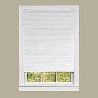 Achim Home Furnishings Honeycomb Pleated Cordless Window Shade, 23 by 64-Inch, White