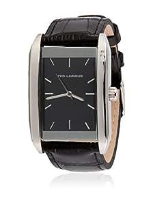 Ted Lapidus - 5119301 - Montre Homme - Quartz Analogique - Cadran Noir - Bracelet Cuir Noir