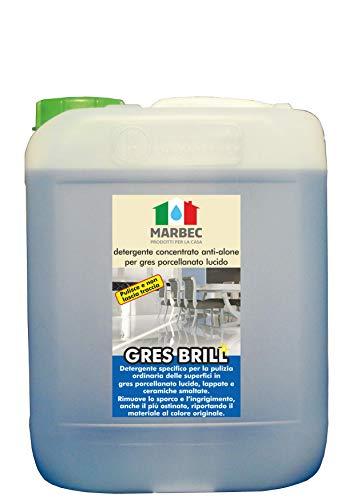 Marbec - GRES Brill 5LT | Detergente concentrato Anti-Alone per gres porcellanato Lucido