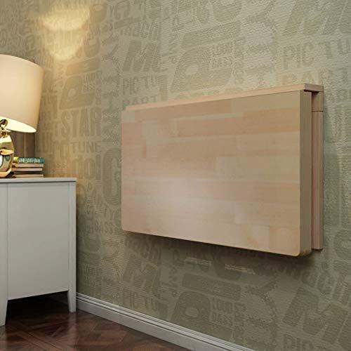 ZCJB Solider an der Wand befestigter Drop-Leaf-Tisch, Klappbare Küche & Esstisch Schreibtisch, Kinder-Laptoptisch zum Studieren, Schlafzimmer, Badezimmer oder Balkon (größe : 120 * 60cm) -