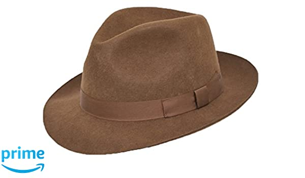 62 DH BROWN Hand Made Gents Fedora Felt Trilby Hat 100/% Wool NEW