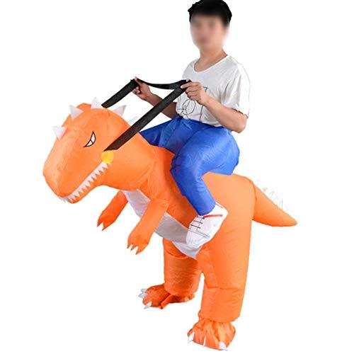 Aufblasbare Dinosaurier Kostüm Set Halloween Dinosaurier Thema Party Kleid Explosion Kostüm Dinosaurier Spielzeug Einteilige Kleidung Erwachsenes Kind Geschenk