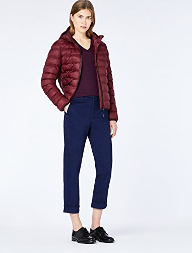 MERAKI Merino Pullover Damen mit V-Ausschnitt, Rot (Berry Marl), 36 (Herstellergröße: Small) - 4