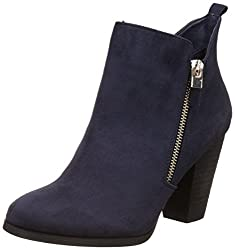 Call It Spring Womens Kokes Navy Suede Boots - 8 UK/India (41 EU) (10US)