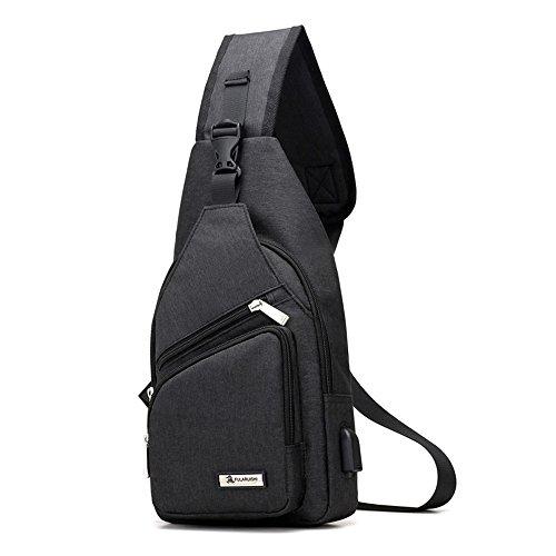 9a05981208876 Festnight USB Lade-Port Sling Bag Pack Schultertashe Cross Body Rucksack  Daypack Brusttasche für Radfahren