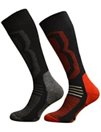 2 Pairs Of Mens Winter Freshfeel SKI Socks - Ultimate High Performance Size 6-11