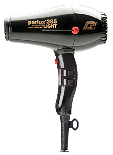 Parlux Profi-Haartrockner Power Light Ceramic und Ion Parlux 385, schwarz