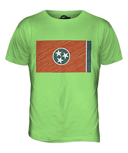 CandyMix Bundesstaat Tennessee Kritzelte Flagge Herren T Shirt Limettengrün