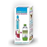 sodastream 3011081 Cylindre C02 SUPPLEMENTAIRE + 1 Bouteille Pet 1L Bulles DE Couleur Verte