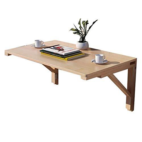 LIANGJUN Tische Wandtisch Wand-Klapptisch Einfach Zu Falten Bücherregal Massivholz Glatt Klare Textur Platz Sparen Runder Winkel,16 Größen (Farbe : A, größe : 60x50x40cm) -