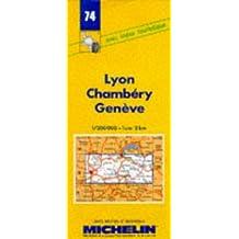 Carte routière : Lyon - Chambéry - Genève, 74, 1/200000