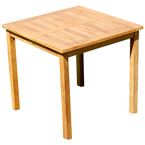 ASS Teak Holztisch Gartentisch Garten Tisch 80x80cm Gartenmöbel Holz sehr robust Modell: