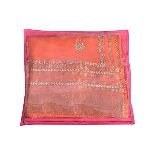 KarigarStreet Fancy Saree Cover - Pink